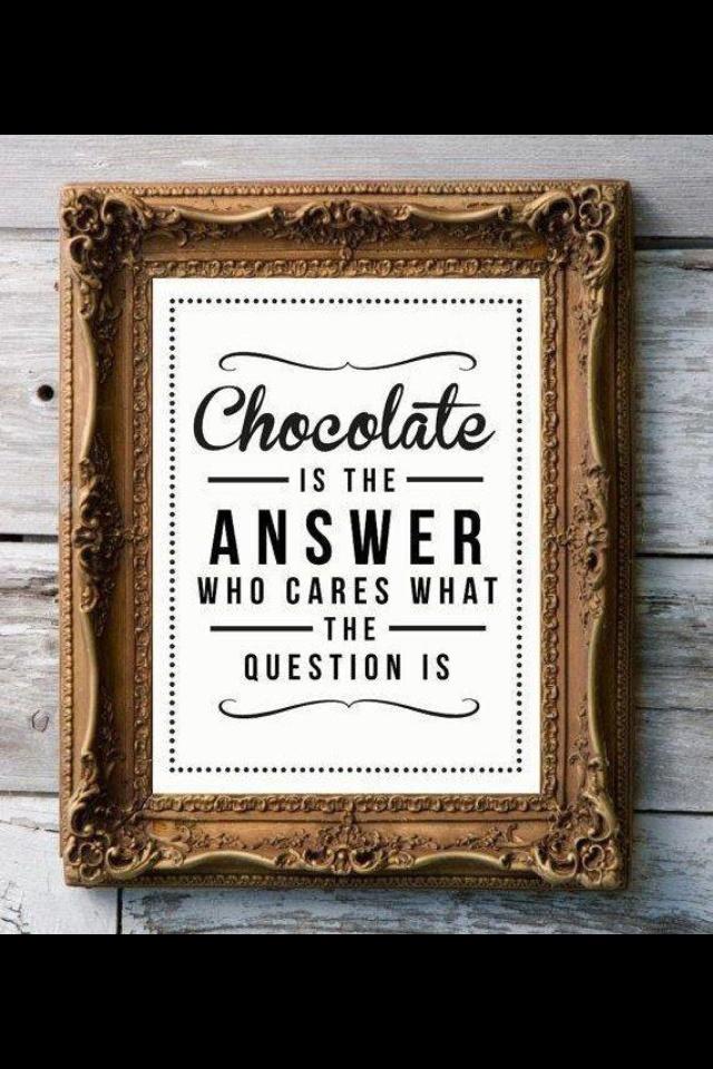 Chocolate it always the answer! #chocolate #shocolaate www.shocolaate.com