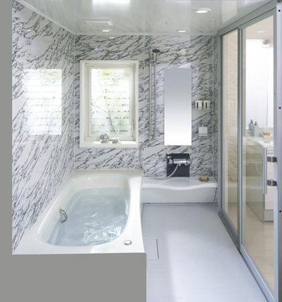 システムバス アラウーノと同じ有機ガラス系素材を浴槽に採用、松下電工