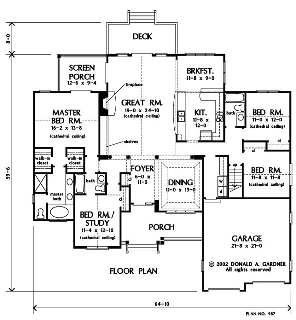The zimmerman house plan images see photos of don for Gardner flooring