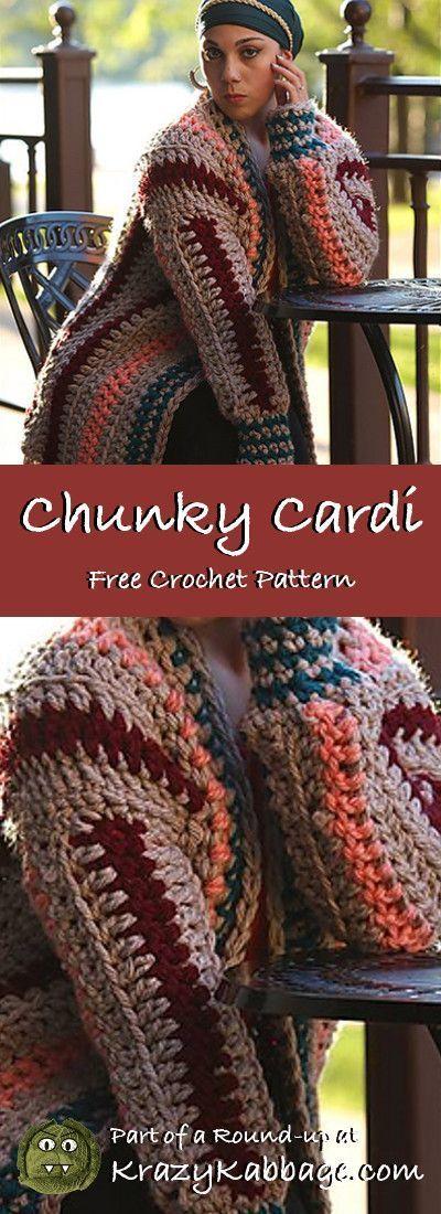 Cozy Cardigans Free #Crochet Patterns – Krazy Kabbage #crochet #cardigan #free #…