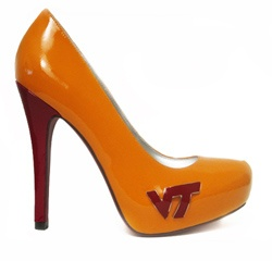 Hokie Heels by Fan Feet - Virginia Tech...hel-lo how cute are these!