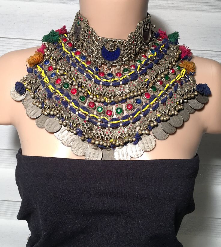 Vintage Necklace,Kuchi Jewelry,Kuchi Necklace,Afghan kochi Tribe,collectible,statement necklace,Billy Dance Necklace,Nomads Jewellery, by JewelsofNomads on Etsy