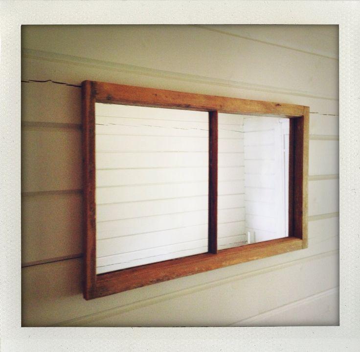 Mirror from vintage window