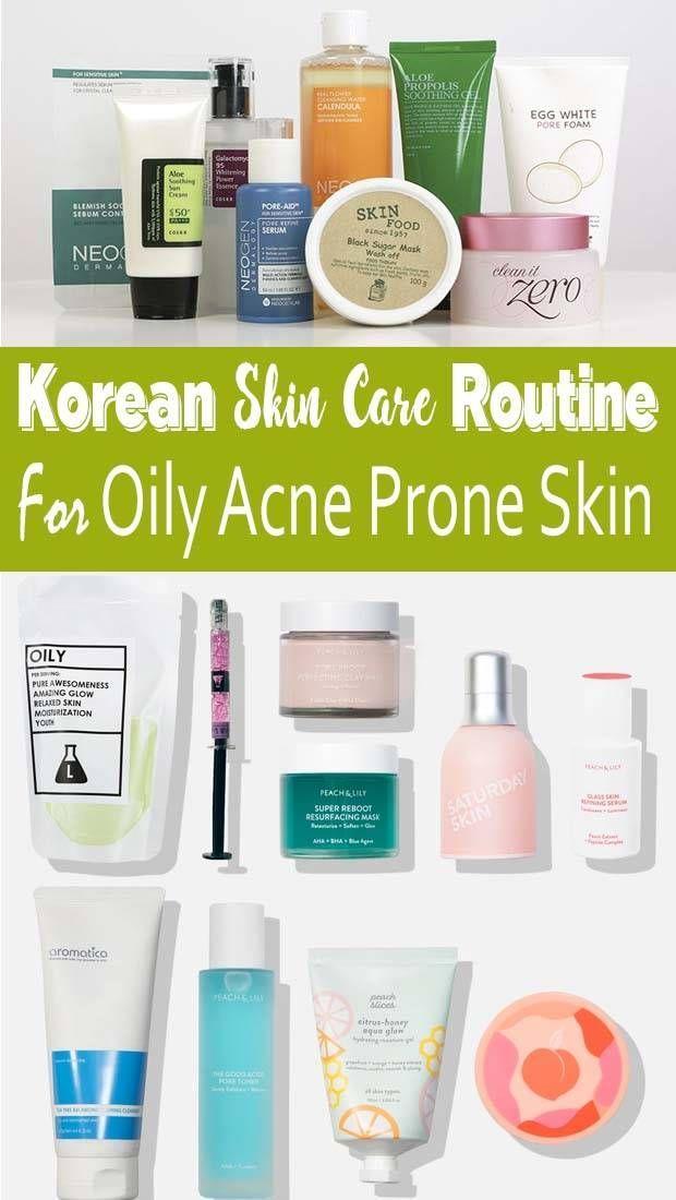 Skin Care Acne Redness Korean Skin Care Routine For Acne And Oily Skin In 2020 Korean Skincare Routine Korean Skincare Oily Skin Care