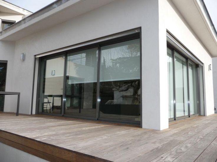baie vitr e 3 vantaux ext rieur maison pinterest. Black Bedroom Furniture Sets. Home Design Ideas