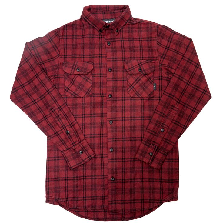 Peralta Flannel- Oxblood