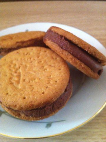 Biscotto gelato con mousse al cioccolato