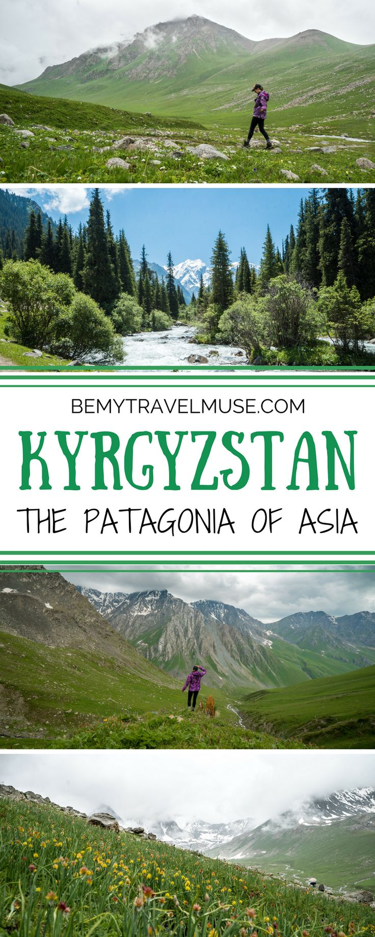 Why Kyrgyzstan should be coined the Patagonia of Central Asia. Incredible hiking and trekking, stunning natural scenery, and rugged mountain passes make this country an outdoor lover's dream! || Be My Travel Muse