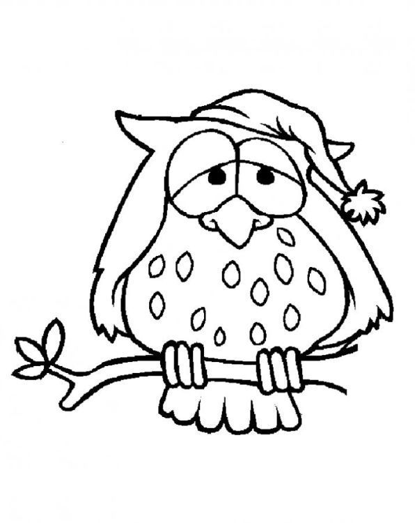 Eule 4 Christmas Drawing Coloring Pages Art Sketches