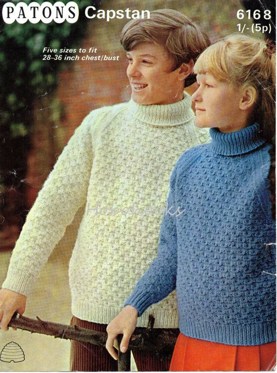 2C7021  childrens polo neck sweater knitting pattern aran jumper 28-36 inch aran worsted childrens knitting patterns pdf instant download PLEASE NOTE PATTERNS ARE VINTAGE AND IN ENGLISH ONLY Please refer to the pictures above for information from pattern on sizes, materials used, needle size etc. Click on the white arrow half way up the picture on the right side. Where a discontinued yarn is used, I check the needle size for a modern equivalent and include in the description. This is meant…