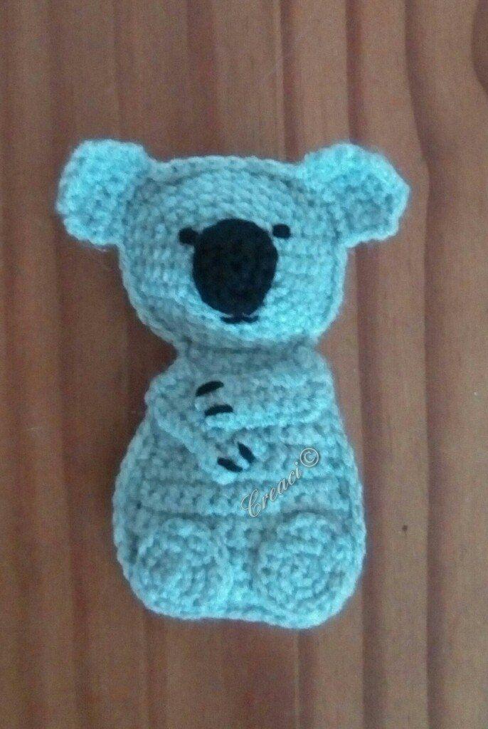 Vandaag een nieuw ontwerp gemaakt, deze lieve koala. Het patroon is gratis en te downloaden op mijn facebook-groep haakmff Is het geen schatje? Je kan hem gebruiken voor: een boxh