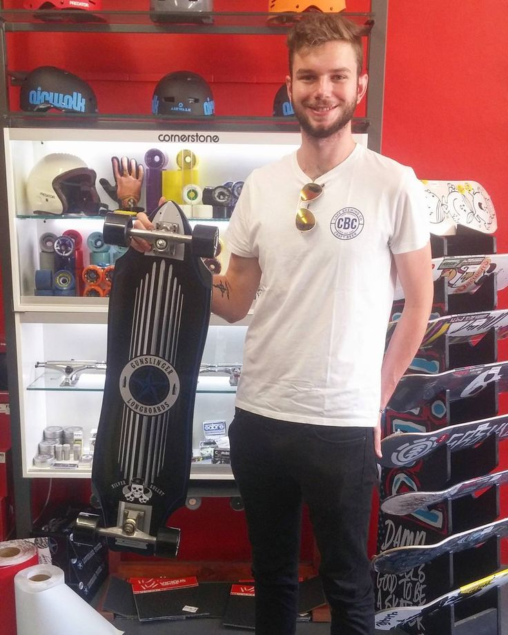"We're stoked we could wish the dude James a #superstokesaturday when he came in to get his 36"" @gunslinger_sa Silver Bullet purchased via #csskateshoponline gripped.  Enjoy it skate safe & stay stoked bro! Welcome to the #csskateshopfam!  #csskateshop x #gunslingerlongboards"