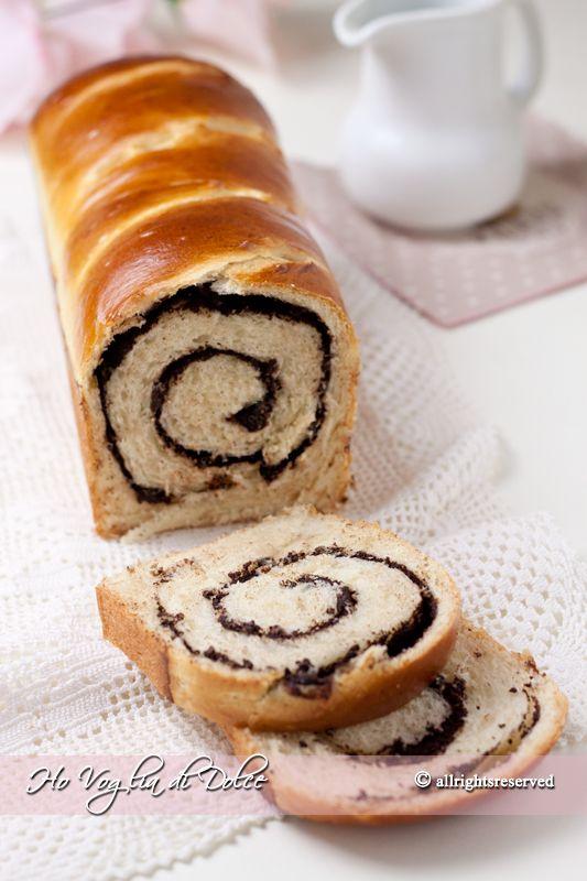 Pan brioche arrotolato al cioccolato (Swirl chocolate brioche), ricetta   Ho Voglia di Dolce