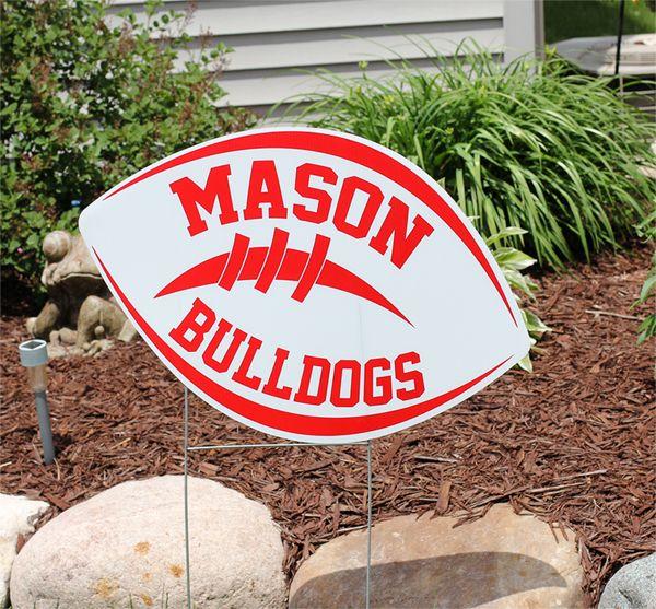 Mason Jr. Bulldog Football Yard Sign Fundraiser