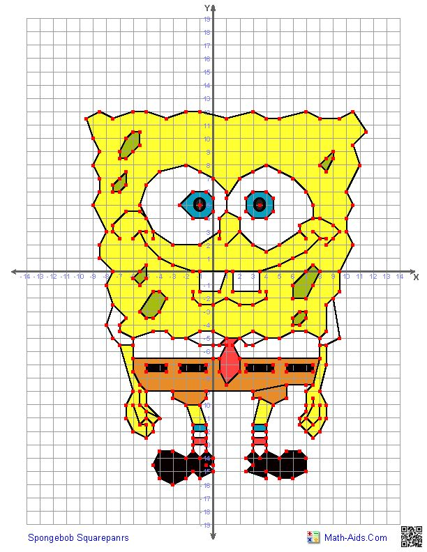 21 different characters to choose from for this fun four quadrant graphing worksheet.
