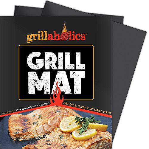 Best Non-Stick BBQ Grill Mat on Amazon - Keep food from sticking to the grill and falling through the grates! http://www.amazon.com/SALE-Grillaholics-Lifetime-Guarantee-Subscription/dp/B00KUJCH66/ref=sr_1_11?ie=UTF8&qid=1420699750&sr=8-11&keywords=grill+mat
