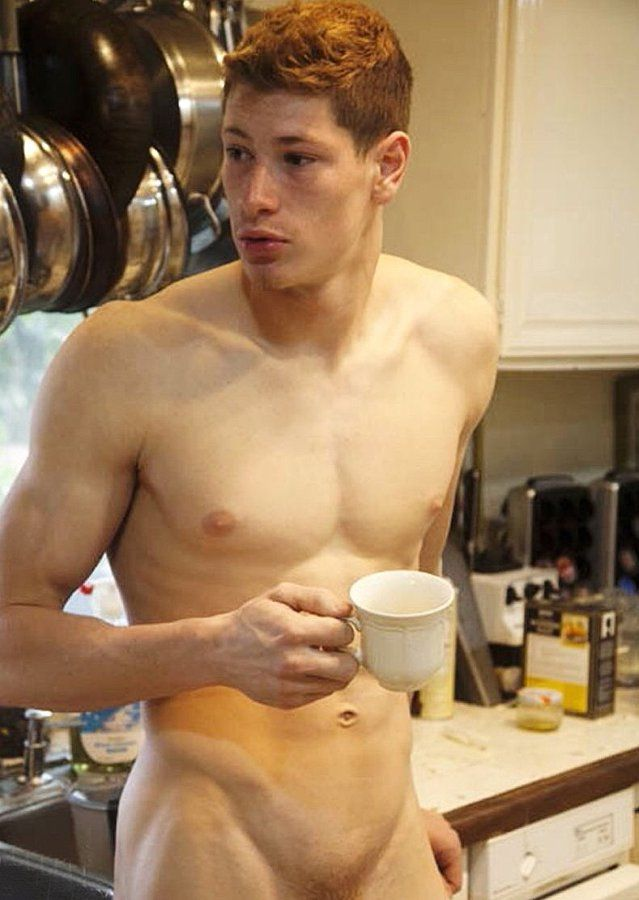 Naked guy in coffee pot