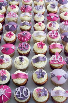 party cupcakes for women | 40th birthday cupcakes — Stock Photo © Ruth Black #6577264