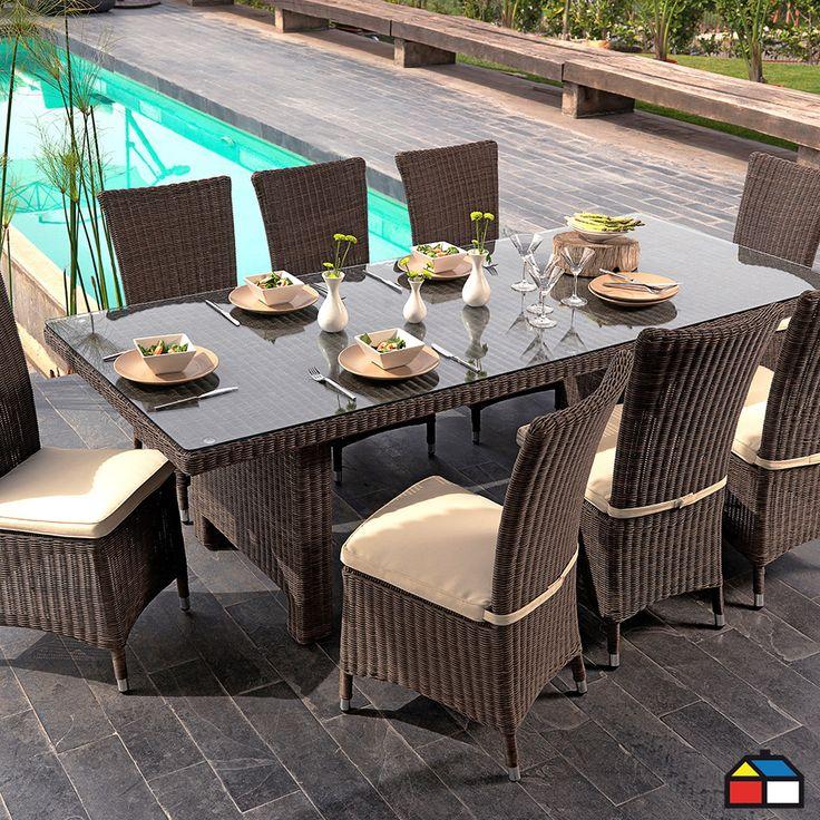 Juego de terraza murano de aluminio con rat n de pe for Juego terraza jumbo