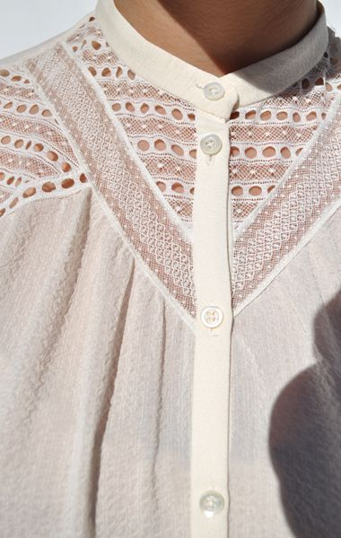 anaïse / vanessa bruno abby blouse - such beautiful lace, very elegant, very on trend and just beautiful.