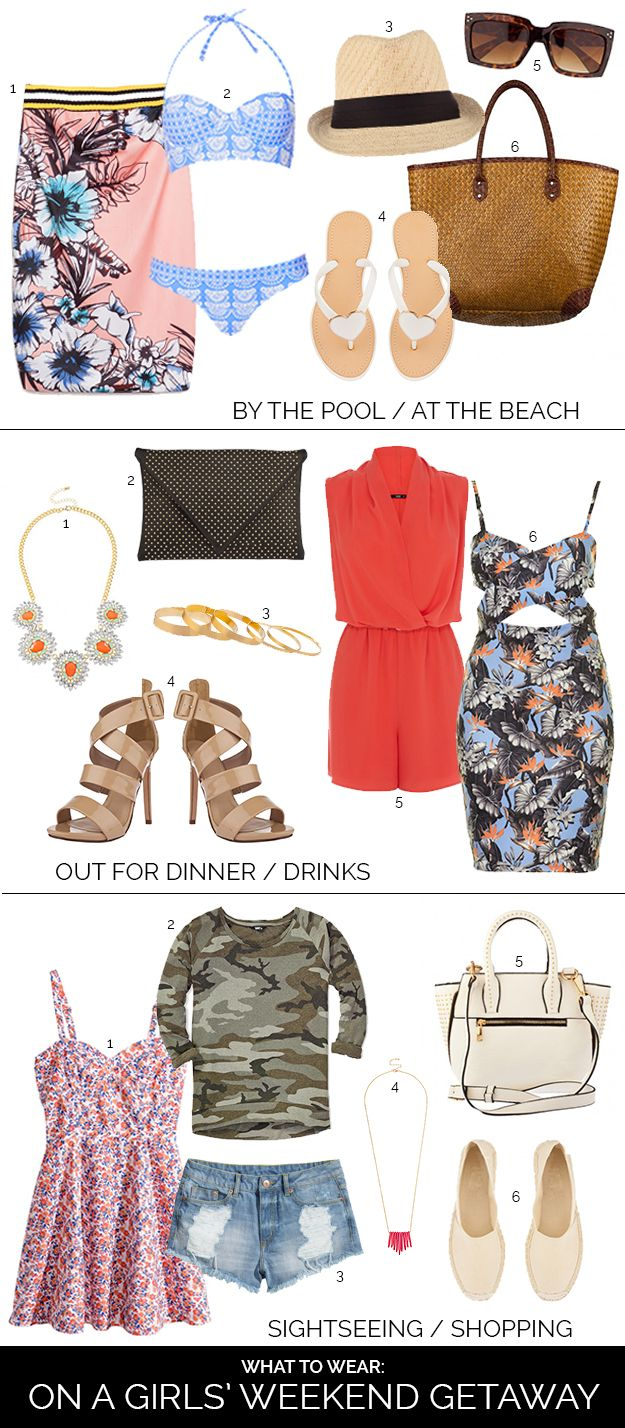 What To Wear On A Girls Weekend, Bachelorette Weekend Packing Inspiration