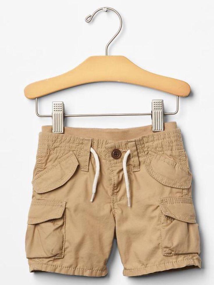 Gap Baby Boy Size 6 12 Months Beige Brown Tan Khaki Pull on Cargo Shorts | eBay