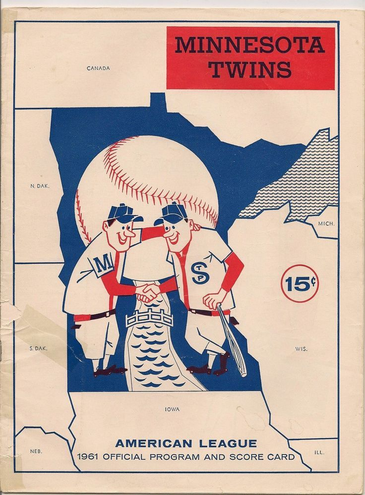 1961 Minnesota Twins program and scorecard.