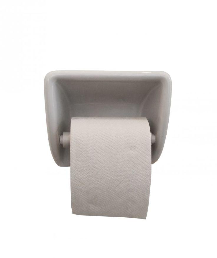 Toiletrulleholder hvid porcelæn