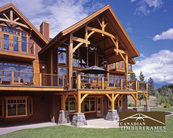 Grand timber frame deck
