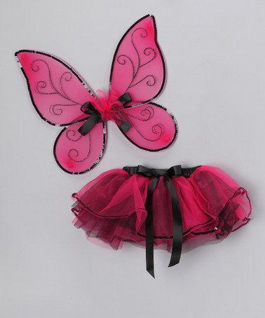 Take a look at this Hot Pink Tutu & Wings by Princess Expressions on #zulily today!