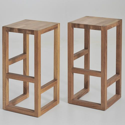 Contemporary bar stool / solid wood / with footrest STEP vitamin design (Dona Handelsges. mbH)