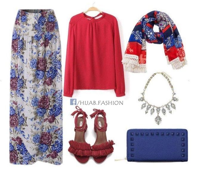 Red & Blue Outfit Ideas