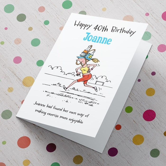 Personalised 40th Birthday Card Exercise From 99p 65th Birthday Cards 30th Birthday Cards 40th Birthday Cards