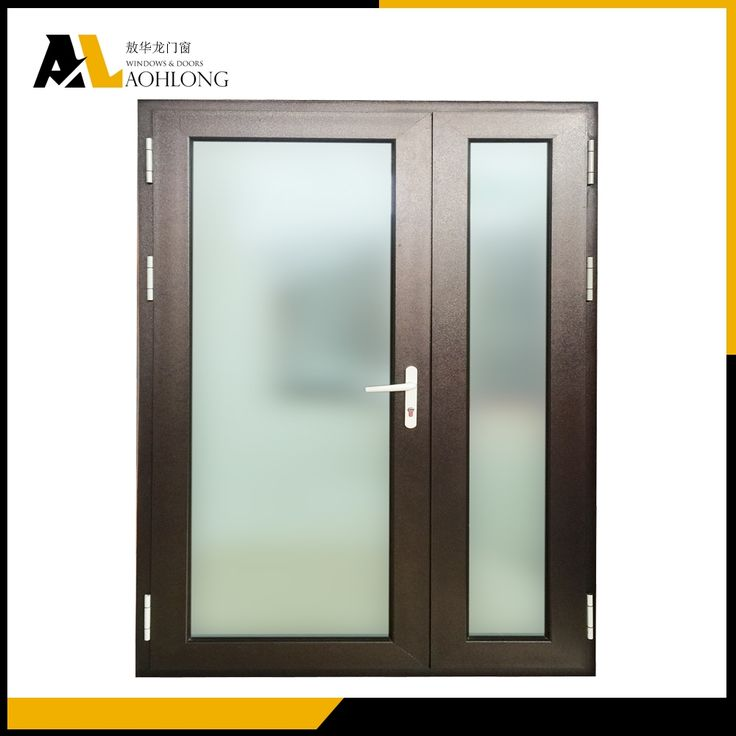 China Customized  Mother and Son Aluminum Hinged Door
