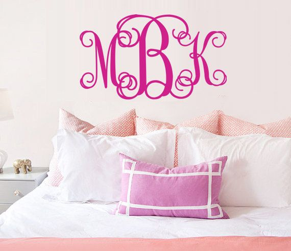 Monogram Wall Decal Art Vinyl Wall Stickers Decor By Yitingsticker, $10.99