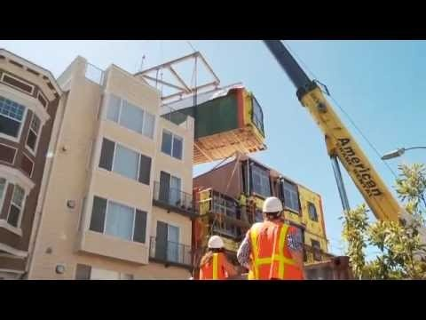 Within a matter of 4 days, 23 apartments get built in San Francisco's thriving SOMA neighborhood.