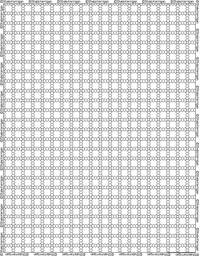 Pony Bead Graph Paper