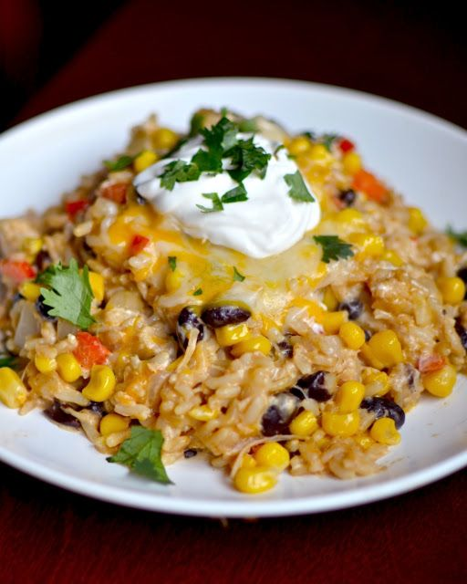 Yammie's Noshery: Cheesy Chipotle Chicken and Rice