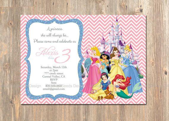best 25+ disney princess invitations ideas on pinterest | princess, Birthday invitations