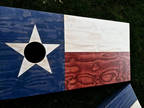 Texas Flag Cornhole Game by ColoradoJoes Classic by ColoradoJoes