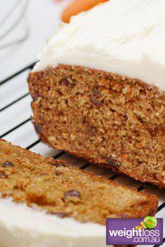 Healthy Dessert Recipes: Carrot Cake. #HealthyRecipes #DietRecipes #WeightLoss #WeightlossRecipes weightloss.com.au