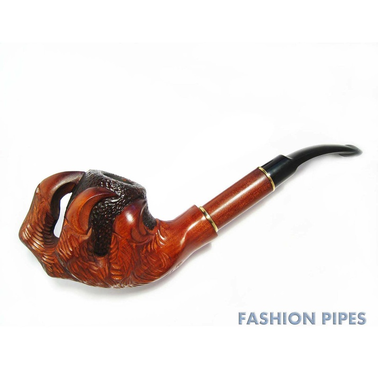 The All New Exclusive Wooden pipe CHURCHWARDEN DRAGON CLAWS, Tobacco Pipe/Pipes Smoking Pipes/Pipe. Hand Carved wooden pipe  & Pouch Gift. via Etsy.