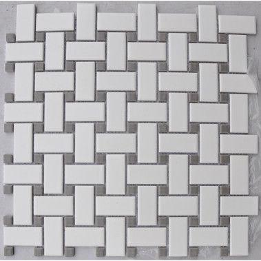 Tiles Direct Store - Retro White Basketweave W/Grey Dot, $4.38 (http://www.tilesdirect.net/retro-white-basketweave-w-grey-dot/)