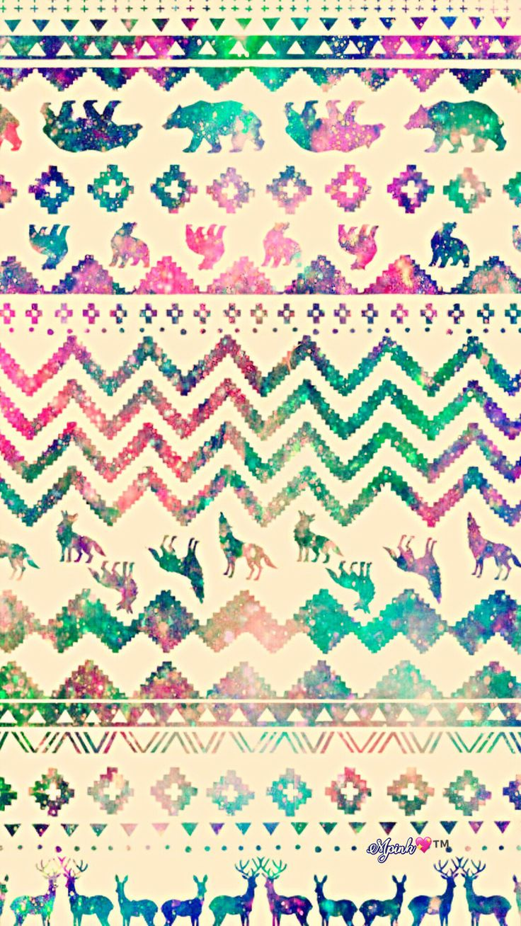 Vintage Wolf Pattern Galaxy Wallpaper #androidwallpaper #iphonewallpaper #wallpaper #galaxy #sparkle #glitter #lockscreen #pretty #pink #cute #animal #girly #wolf #tribal #pattern #chevron #vintage