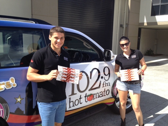 AAC were visited by 1029 Hot Tomato radio and Gold Coast Suns player Dion Prestia!