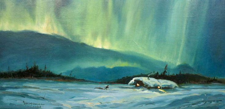 Scott McDaniel (1926-2012 Alaska) Northern Lights Oil