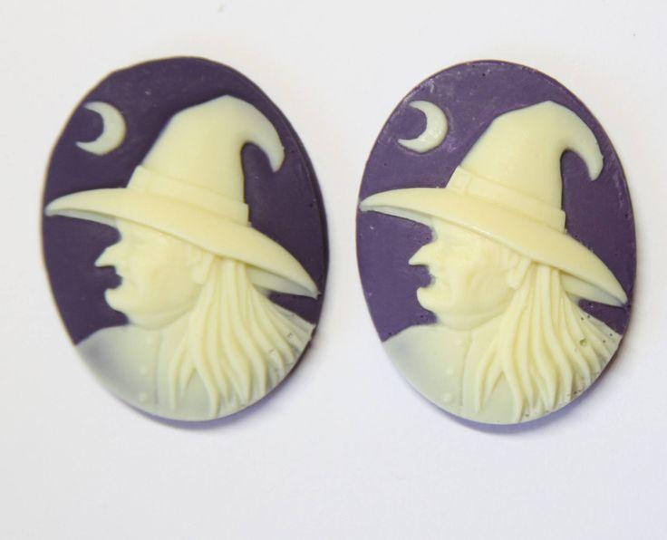 witch purple needle minder - needleminder pinminder needlecraft accessory SALE SECONDS by UnconventionalX on Etsy