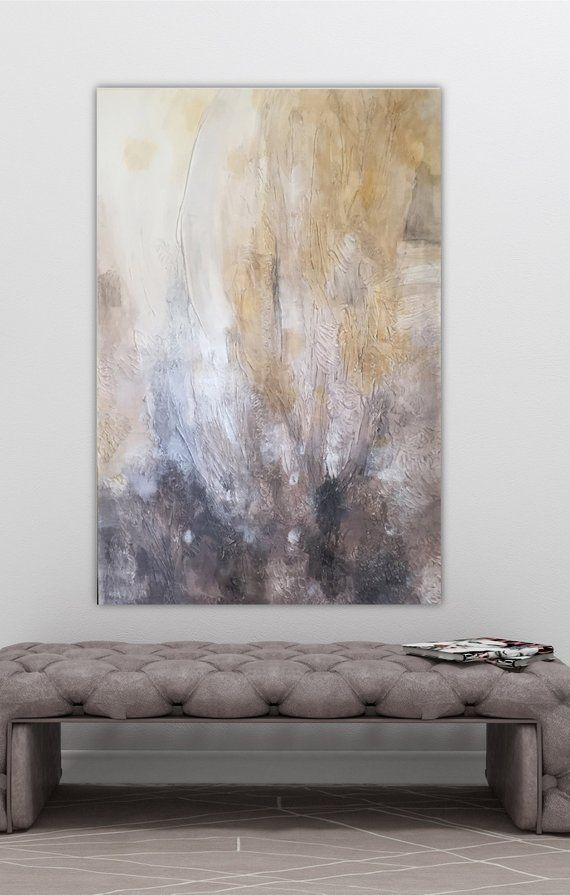 Original Large Abstract Painting On Canvas 24x36 Abstract Art