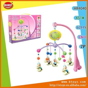 Made In China small baby plastic baby crib musical mobile wind up baby mobile baby toys