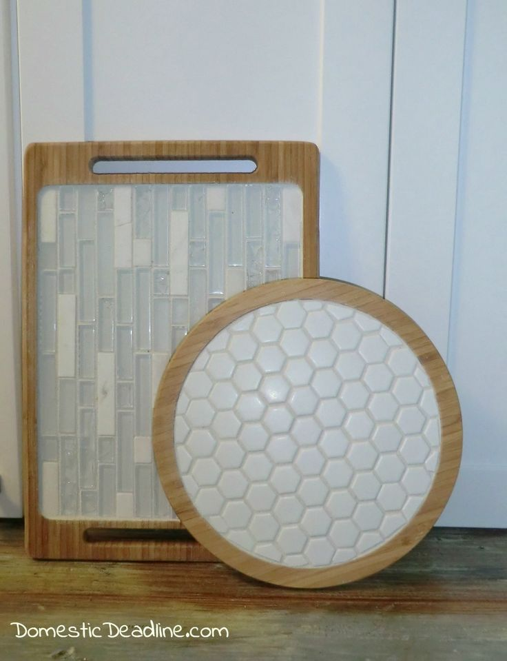 DIY Tile Trays and Lazy Susan - Domestic Deadline